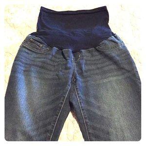 Indigo Blue Maternity Jeans Medium